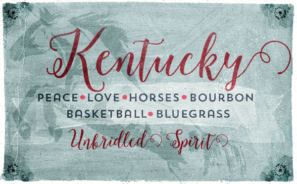 An original travel postcard—Kentucky