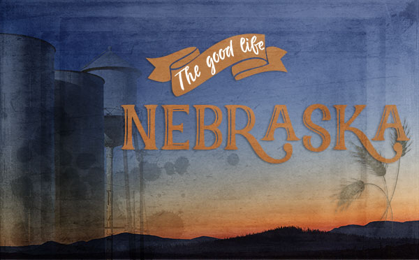 An original travel postcard—Nebraska