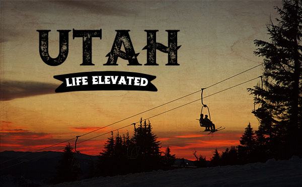 An original travel postcard—Utah